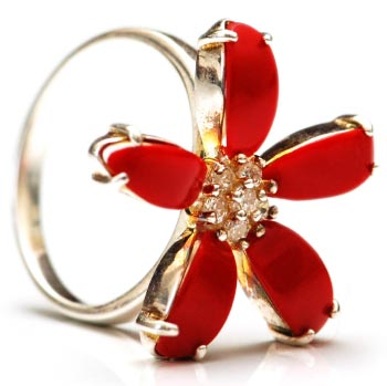 Jeweled Flower Ring