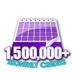 1,500,000 Credits in a Month