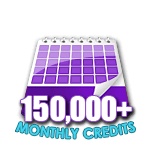 150,000 Credits in a Month