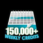 150,000 Credits in a Week