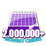 2,000,000 Credits in a Month