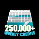 250,000 Credits in a Week