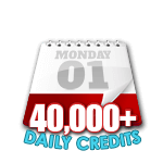 40,000 Credits in a Day