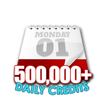 500,000 Credits in a Day