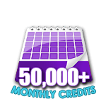 50,000 Credits in a Month
