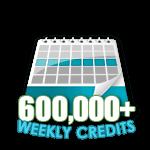 600,000 Credits in a Week