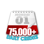 75,000 Credits in a Day