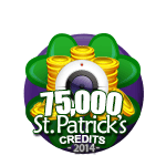 St Patricks 75,000 Credits