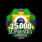 St Patricks 25,000 Credits