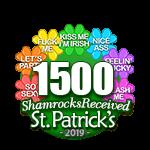 1,500 Shamrocks