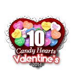 10 Candy Hearts