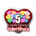 5 Candy Hearts