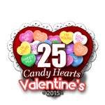 25 Candy Hearts