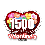 1,500 Candy Hearts
