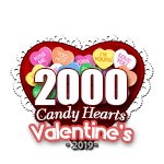 2,000 Candy Hearts