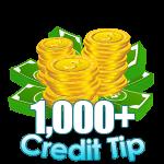 1,000 - 4,999 Credit Tip