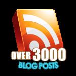 3000 Blog Posts