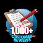1000 Customer Reviews