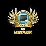 Mister FOTY November 2017
