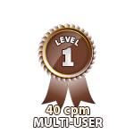 Multi-User 40cpm - Level 1