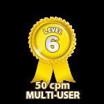 Multi-User 50cpm - Level 6