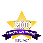 200 Unique Customers in a Day