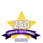 250 Unique Customers in a Day