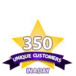 350 Unique Customers in a Day