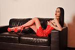 my shiny red dress