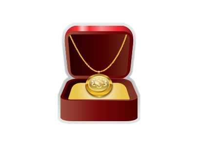 Gold Locket in Jewelry Box