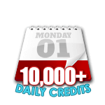 10,000 Credits in a Day