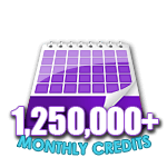 1,250,000 Credits in a Month