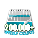 200,000 Credits in a Week