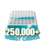 250,000 Credits in a Week