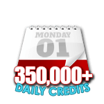 350,000 Credits in a Day