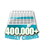 400,000 Credits in a Week