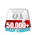 50,000 Credits in a Day