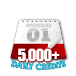 5,000 Credits in a Day