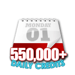 550,000 Credits in a Day