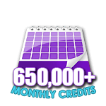 650,000 Credits in a Month