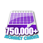 750,000 Credits in a Month