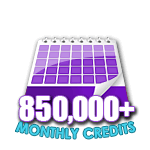 850,000 Credits in a Month