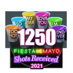 1,250 Shots