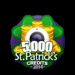 St Patricks 5,000 Credits
