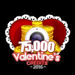 Valentine's 75,000 Credits