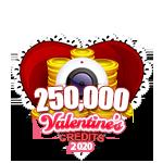 Valentine's 250,000 Credits