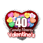 40 Candy Hearts