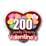 200 Candy Hearts