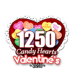 1250 Candy Hearts
