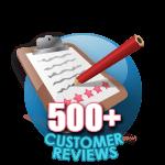 500 Customer Reviews